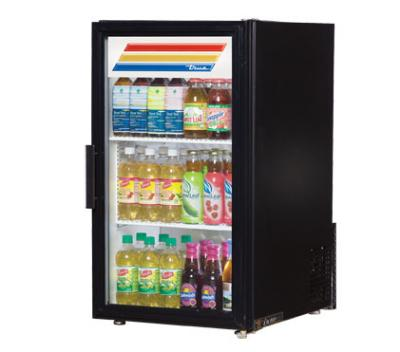 "True GDM-6-LD 20"" Countertop Refrigeration w/ Front Access - Swing Door, Black, 115v"