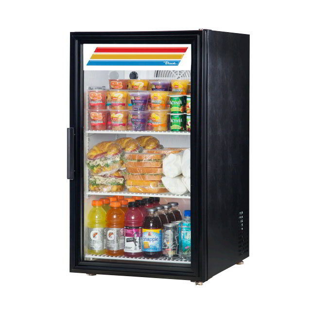 "True GDM-06-HC~TSL01 20"" Countertop Refrigerator w/ Front Access - Swing Door, Black, 115v"