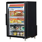 "True GDM-7F-LD BK 24"" One-Section Display Freezer w/ Swinging Door - Rear Mount Compressor, Black, 115v"