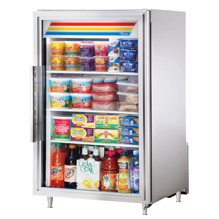 "True GDM-7-S-LD 24"" Countertop Refrigerator w/ Front Access - Swing Door, Stainless, 115v"