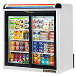 "True GDM-9-LD 36"" Countertop Refrigerator w/ Front Access - Sliding Door, Black, 115v"