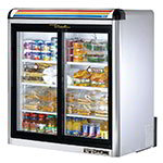 "True GDM-9-S-LD 36"" Countertop Refrigerator w/ Front Access, Sliding Door, Stainless, 115v"