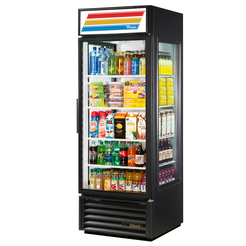 "True GEM-23-LD 27"" One-Section Refrigerated Display w/ Swing Door, Bottom Mount Compressor, 115v"