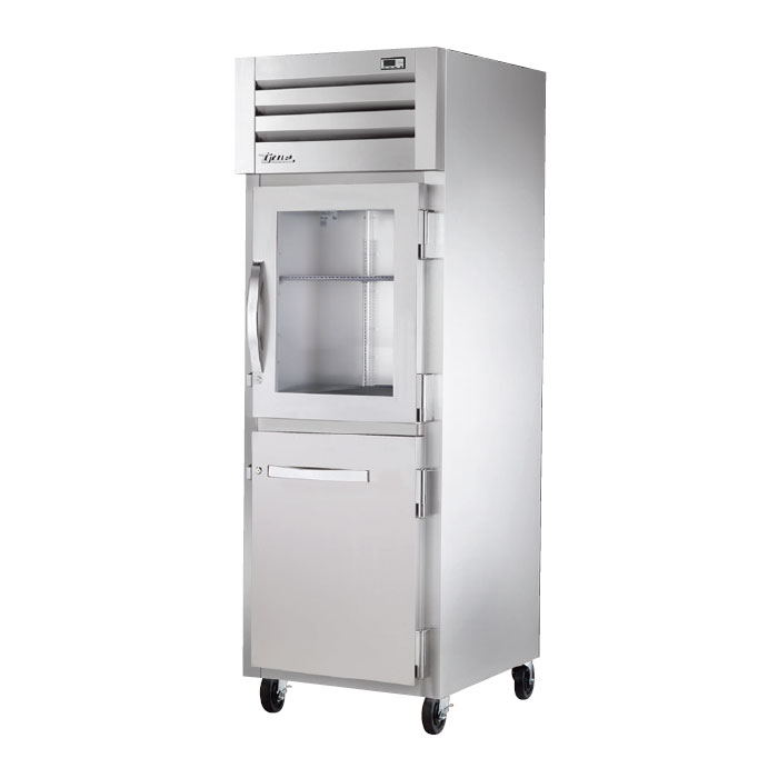 "True STA1R-1HG/1HS 27.5"" Single Section Reach-In Refrigerator, (1) Solid Door, (1) Glass Door, 115v"
