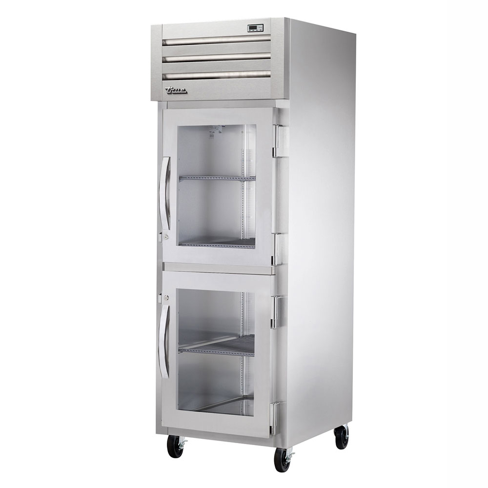 "True STA1R-2HG 27.5"" Single Section Reach-In Refrigerator, (2) Glass Door, 115v"