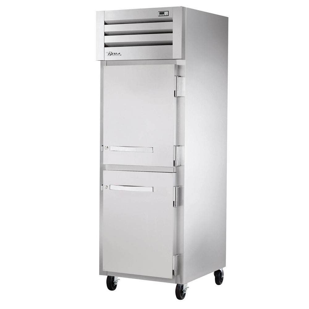 "True STA1R-2HS 27.5"" Single Section Reach-In Refrigerator, (2) Solid Door, 115v"