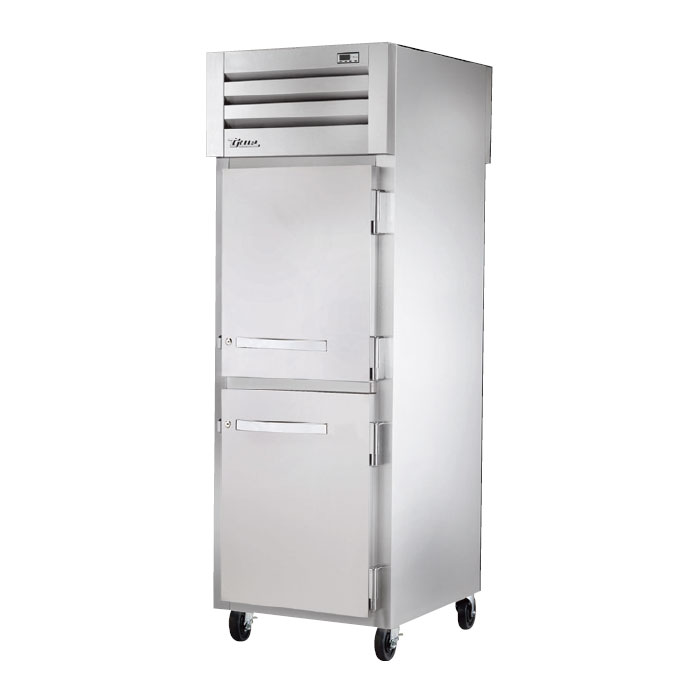 "True STA1RPT-2HS-1G 27.5"" Single Section Pass-Thru Refrigerator, (2) Solid Door, 115v"
