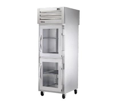 "True STA1RPTVLD-2HG1S 27.5"" Single Section Pass-Thru Refrigerator, (2) Glass Door, 115v"