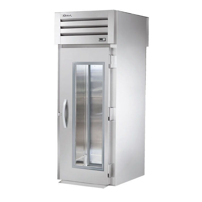 "True STA1RRT-1G-1S 35"" Single Section Roll-Thru Refrigerator, (1) Glass Door, 115v"