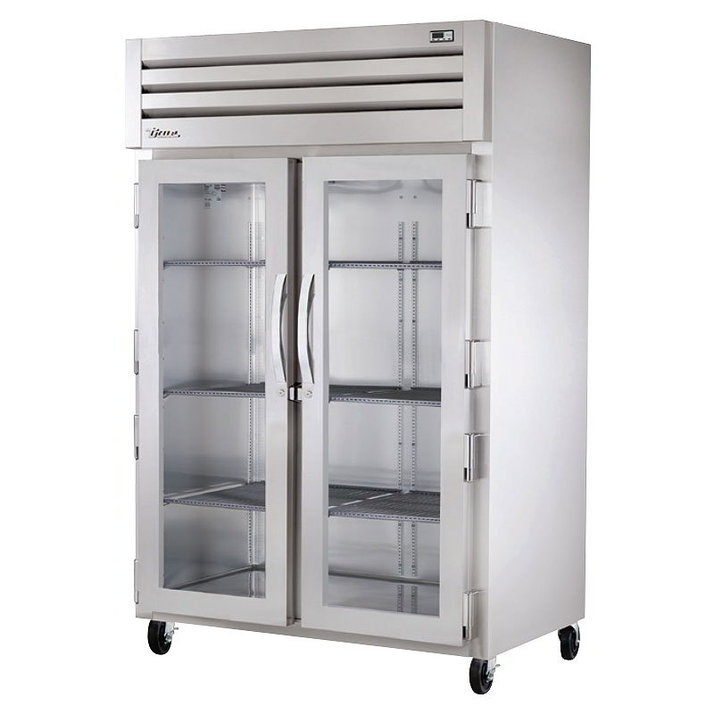 "True STA2R-2G 52.63"" Two Section Reach-In Refrigerator, (2) Glass Door, 115v"