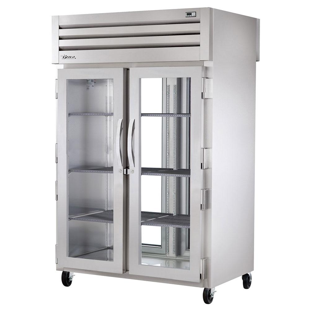 "True STA2RPT-2G-2G 52.63"" Two Section Pass-Thru Refrigerator, (2) Glass Door, 115v"