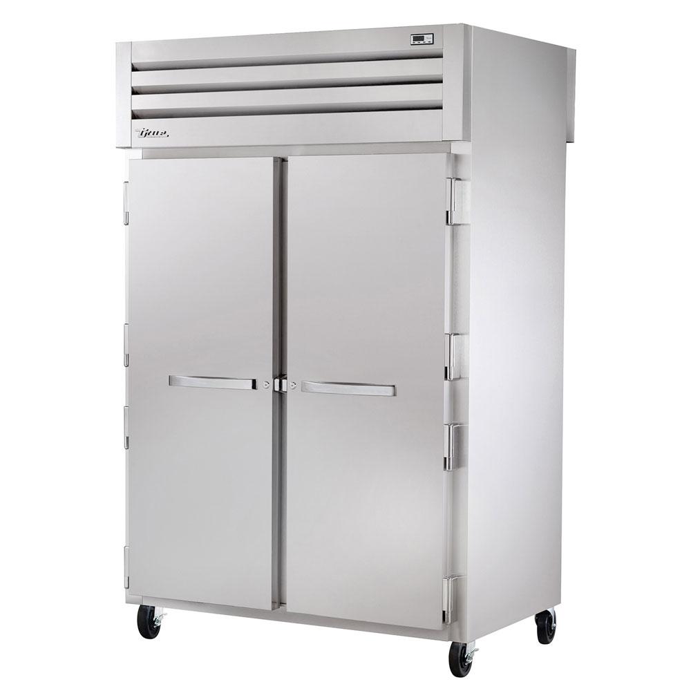 "True STA2RPT-2S-2G 52.63"" Two Section Pass-Thru Refrigerator, (2) Solid Door, 115v"