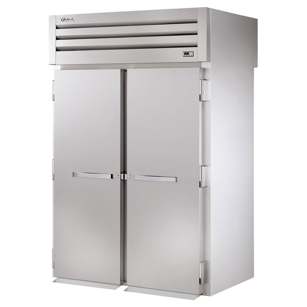 "True STA2RRT-2S-2S 68"" Two Section Reach-Thru Refrigerator, (2) Solid Door, 115v"