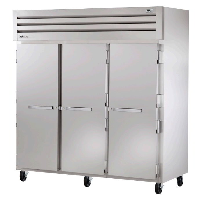 "True STA3F-3S 77.75"" Three Section Reach-In Freezer, (3) Solid Doors, 208v/1ph"
