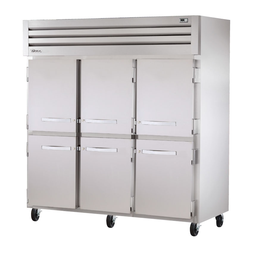"True STA3F-6HS 77.75"" Three Section Reach-In Freezer, (6) Solid Door, 208-230v/1ph"