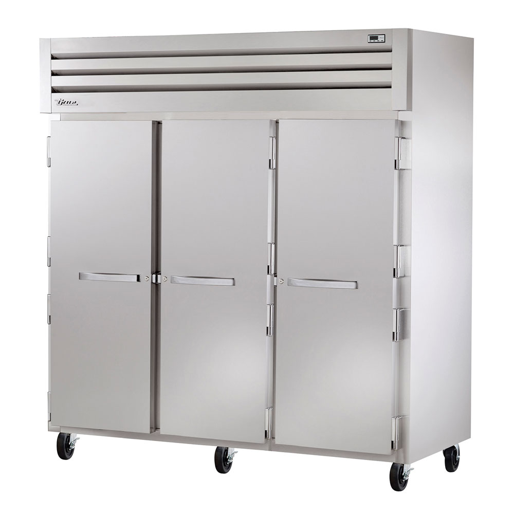 """True STA3R-6HS 77.75"""" Three Section Reach-In Refrigerator, (6) Solid Door, 115v"""