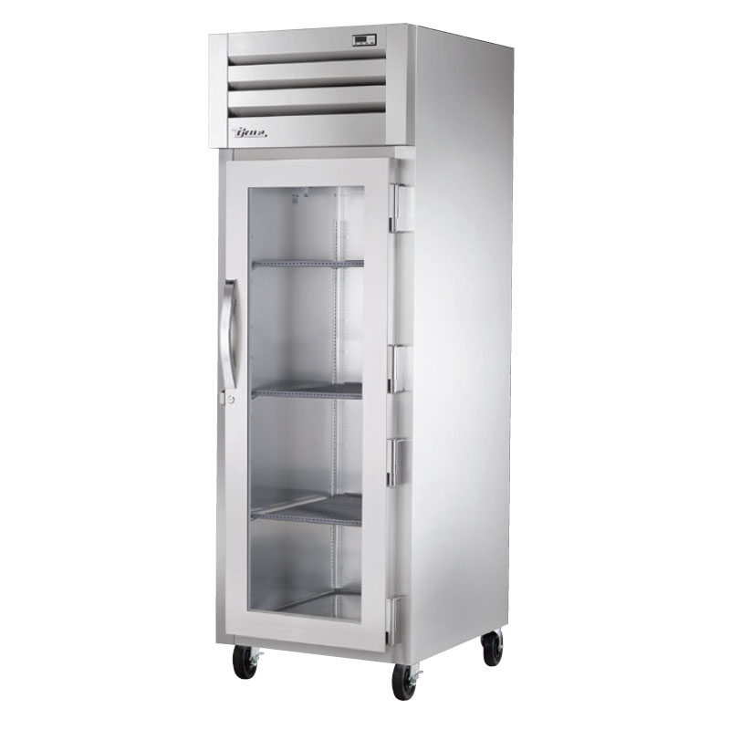 "True STG1F-1G-HC 27.5"" Single Section Reach-In Freezer, (1) Glass Door, 115v"