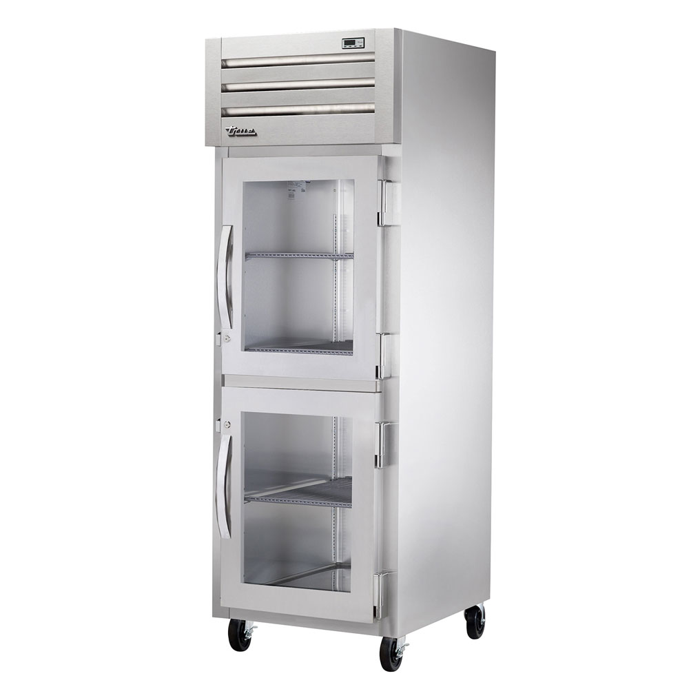 "True STG1F-2HG-HC 28"" Single Section Reach-In Freezer, (2) Glass Doors, 115v"
