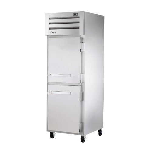 "True STG1H-2HS 28"" Reach-In Heated Cabinet - 2-Solid Half Doors, Stainless/Aluminum"