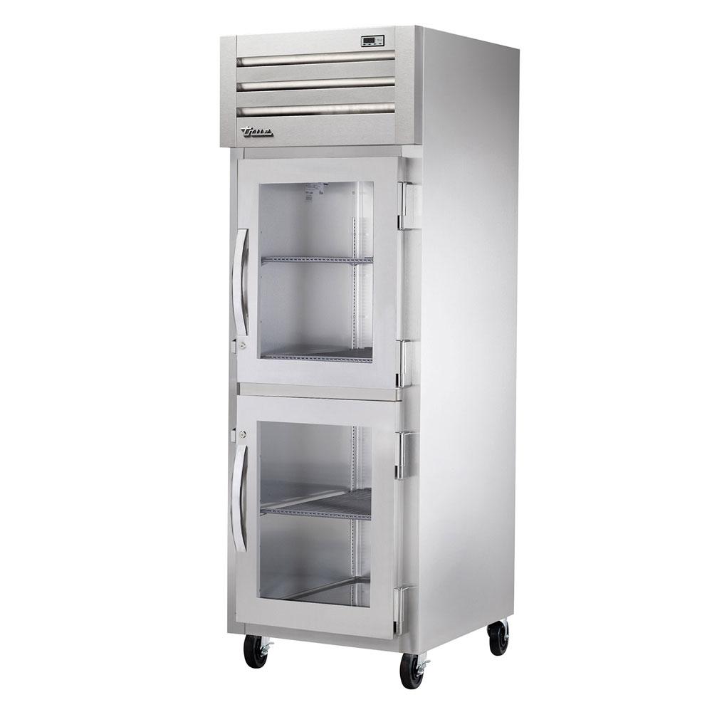 """True STG1R-2HG-HC 27.5"""" Single Section Reach-In Refrigerator, (2) Glass Door, 115v"""