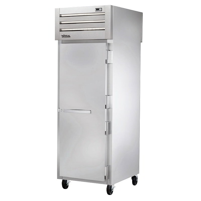 "True STG1RPT-1S-1S-HC 28"" Single Section Pass-Thru Refrigerator, (1) Solid Door, 115v"