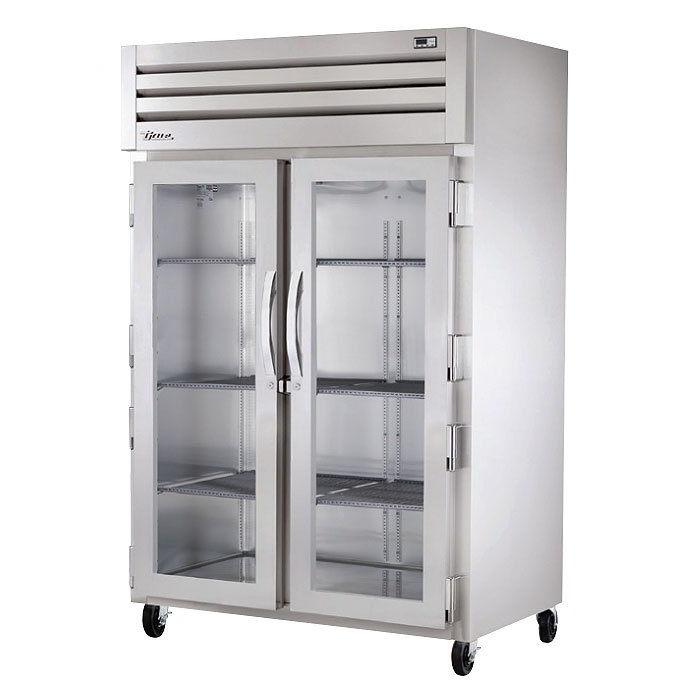 "True STG2R-2G 52.63"" Two Section Reach-In Refrigerator, (2) Glass Door, 115v"
