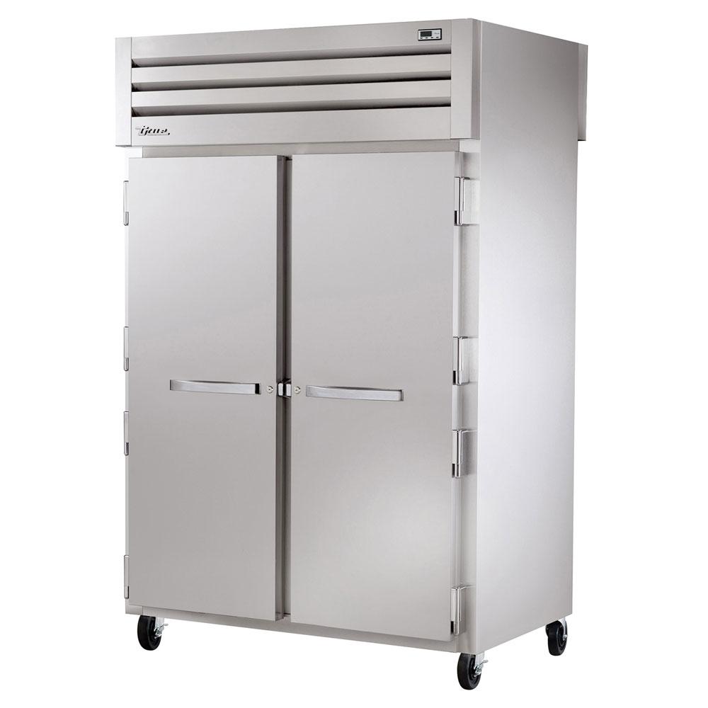 """True STG2RPT-2S-2G 52.63"""" Two Section Pass-Thru Refrigerator, (2) Solid Door, 115v"""