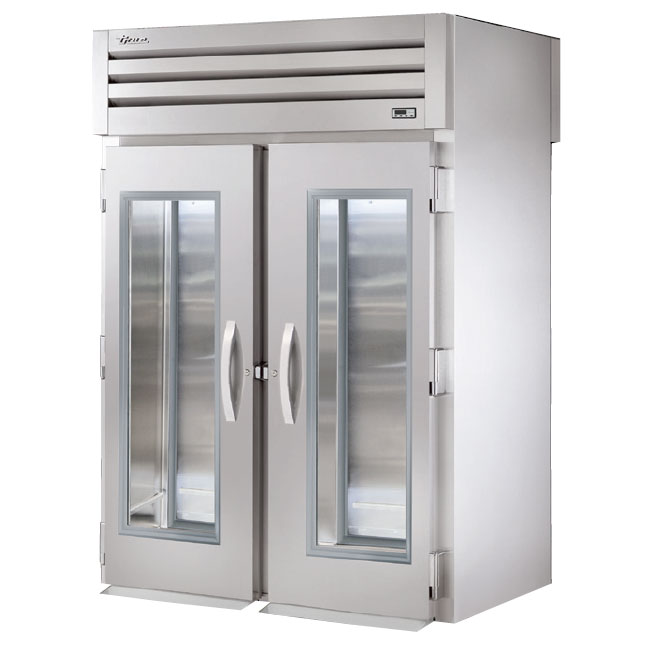 "True STG2RRT-2G-2S 68"" Two Section Reach-Thru Refrigerator, (2) Glass Door, 115v"