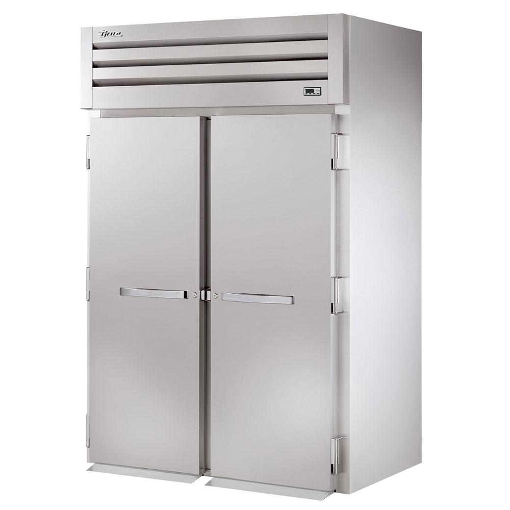"""True STG2RRT-2S-2S 68"""" Two Section Roll-Thru Refrigerator, (2) Solid Door, 115v"""