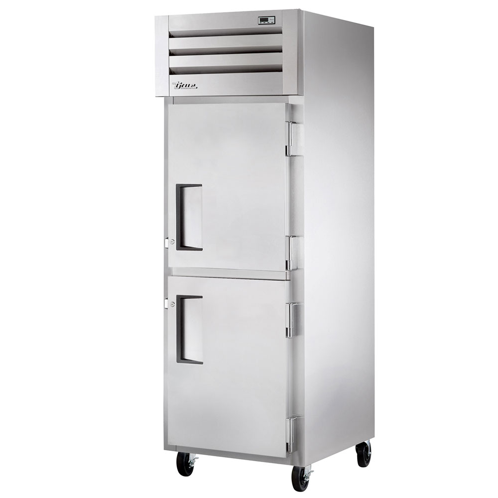 "True STM1R-2HS-HC 27.5"" Single Section Reach-In Refrigerator, (2) Solid Door, 115v"