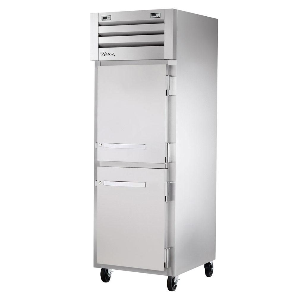 """True STR1DT-2HS 28"""" One Section Commercial Refrigerator Freezer - Solid Doors, Top Compressor, 115v"""