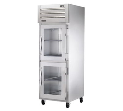 "True STR1F-2HG-HC 27.5"" Single Section Reach-In Freezer, (2) Glass Door, 115v"