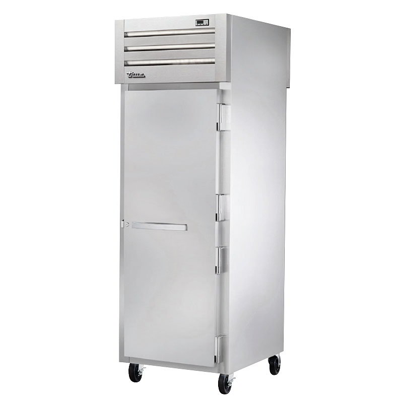 "True STR1HPT-1S-1S 28"" Pass-Thru Heated Cabinet -2-Solid Doors, All Stainless"