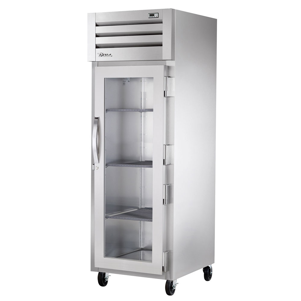 "True STR1R-1G 27.5"" Single Section Reach-In Refrigerator, (1) Glass Door, 115v"