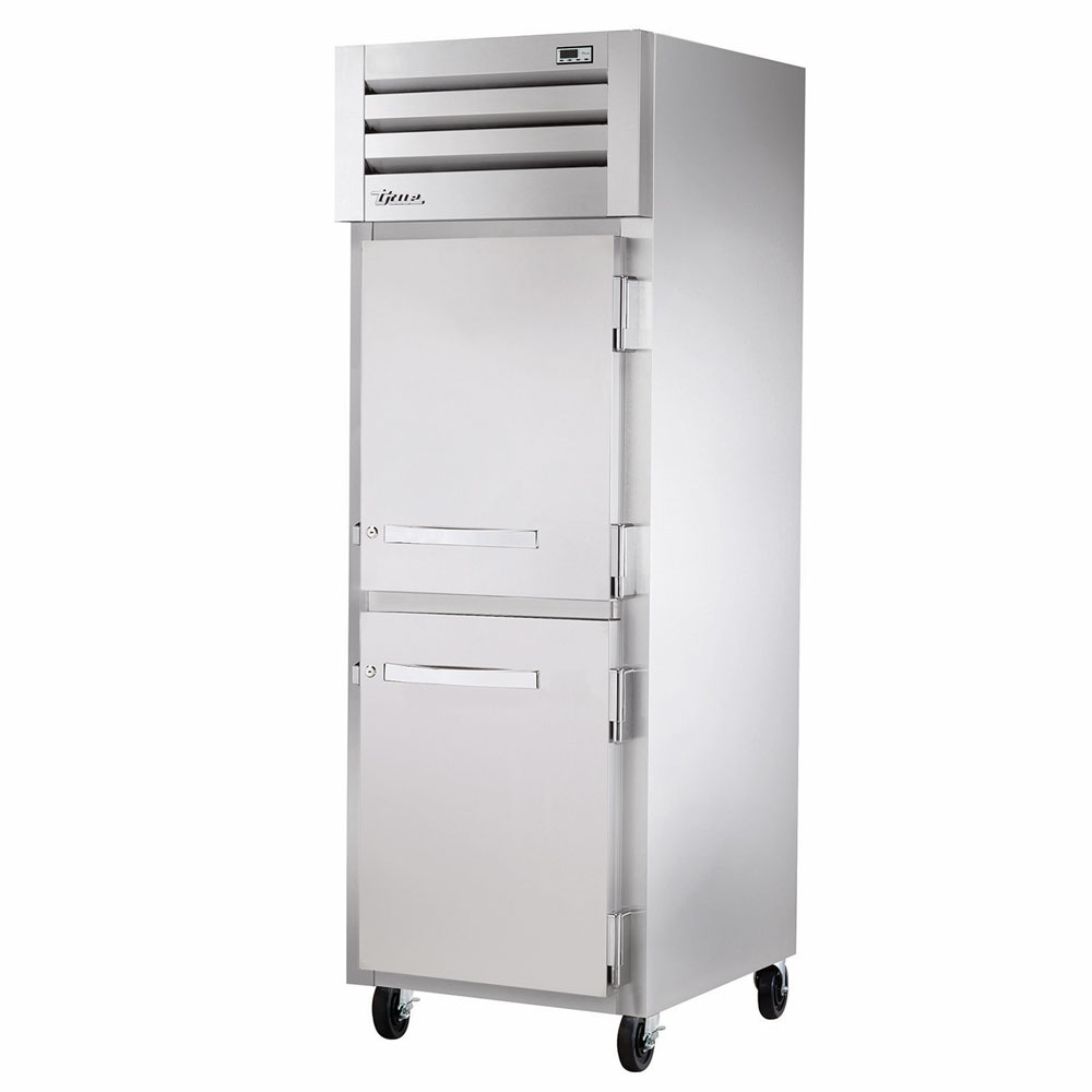 "True STR1R-2HS 27.5"" Single Section Reach-In Refrigerator, (2) Solid Door, 115v"