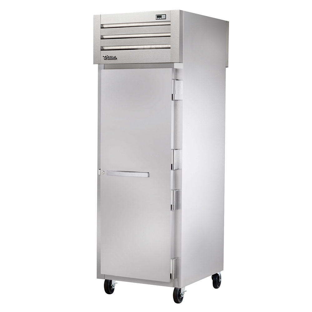 "True STR1RPT-1S-1G-HC 27.5"" Single Section Pass-Thru Refrigerator, (1) Solid Door, 115v"