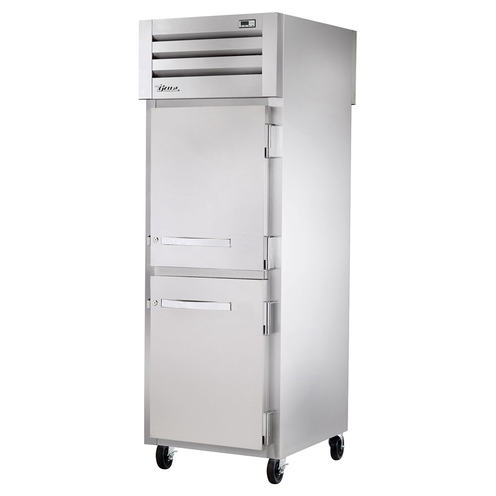 "True STR1RPT-2HS-1S 27.5"" Single Section Pass-Thru Refrigerator, (2) Solid Door, 115v"