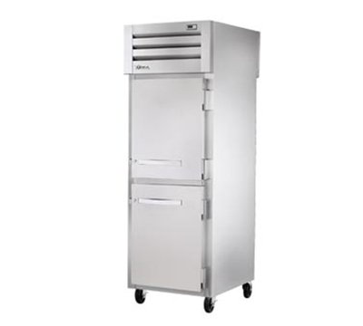 "True STR1RPT-2HS-2HS-HC 27.5"" Single Section Pass-Thru Refrigerator, (2) Solid Door, 115v"