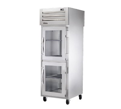 """True STR1RPTVLD-2HG1S 27.5"""" Single Section Pass-Thru Refrigerator, (2) Glass Door, 115v"""