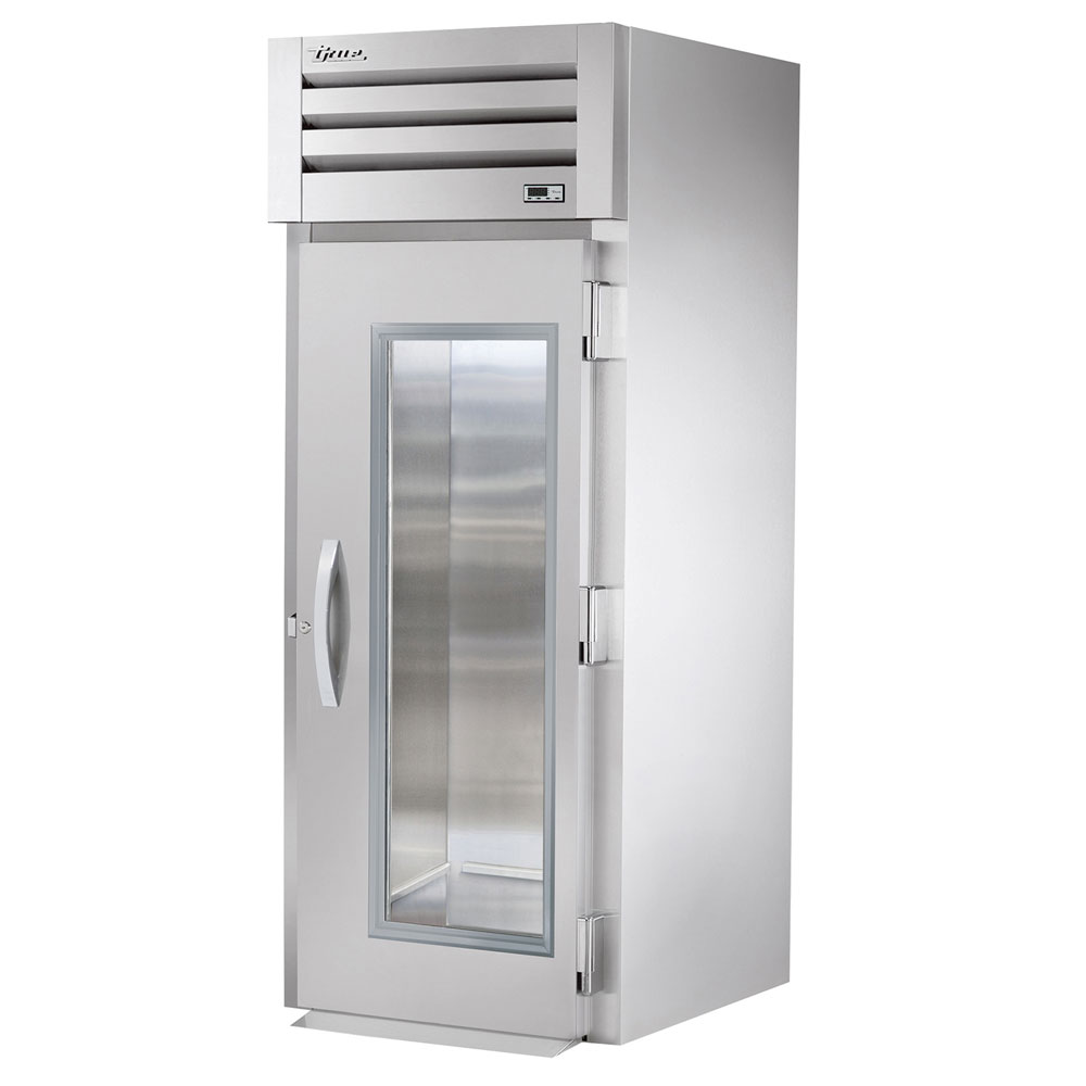 "True STR1RRI-1G 35"" Single Section Roll-In Refrigerator, (1) Glass Door, 115v"