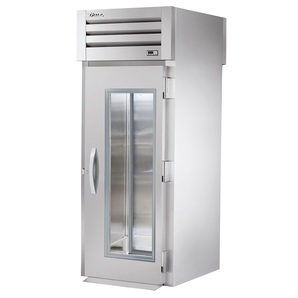 "True STR1RRT-1G-1S 35"" Single Section Reach-Thru Refrigerator, (1) Glass Door, 115v"