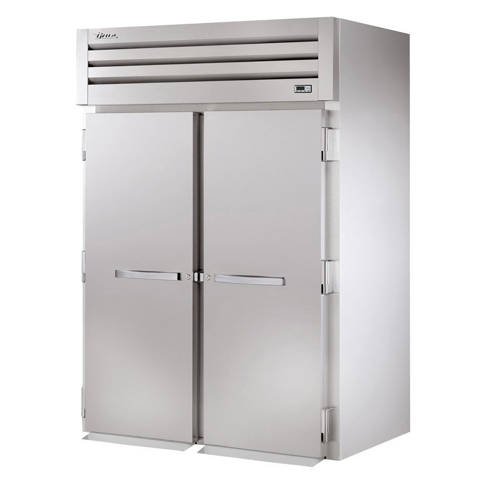 "True STR2FRI-2S 68"" Two Section Roll-In Freezer, (2) Solid Door, 115/208-230v/1ph"