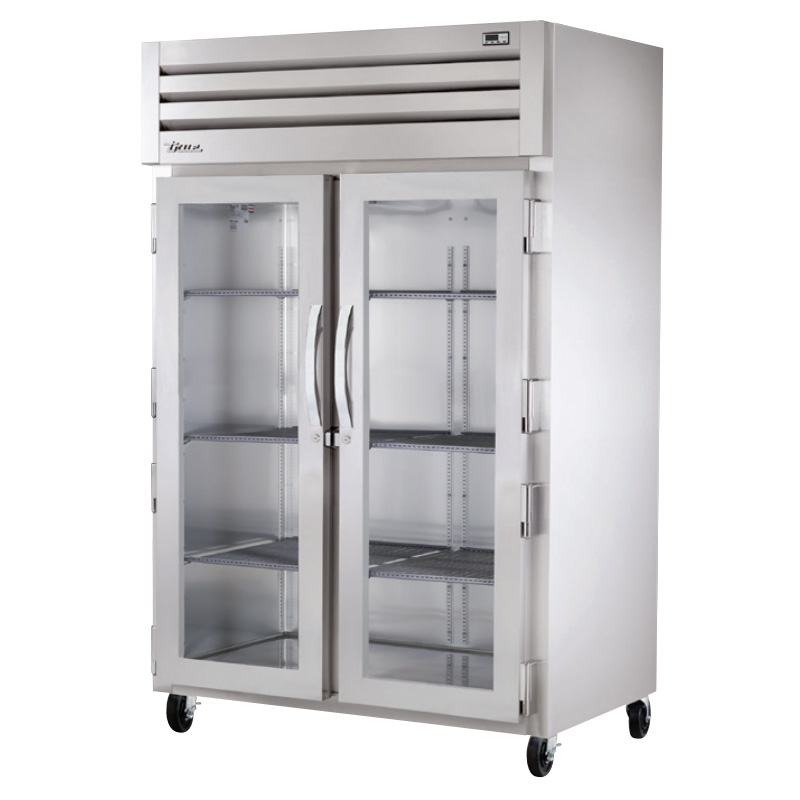 "True STR2R-2G 52.63"" Two Section Reach-In Refrigerator, (2) Glass Door, 115v"