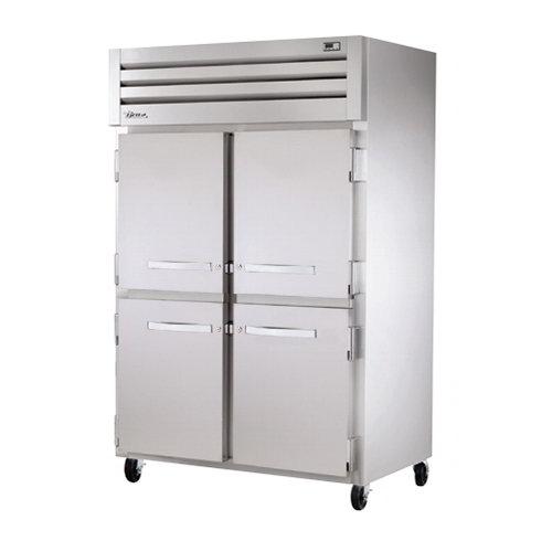 "True STR2R-4HS 52.63"" Two Section Reach-In Refrigerator, (4) Solid Door, 115v"