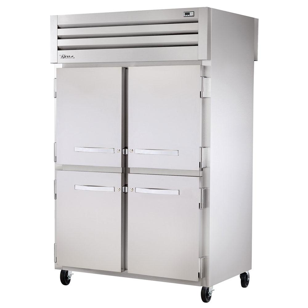 """True STR2RPT-4HS-2G 52.63"""" Two Section Pass-Thru Refrigerator, (4) Solid Door, 115v"""