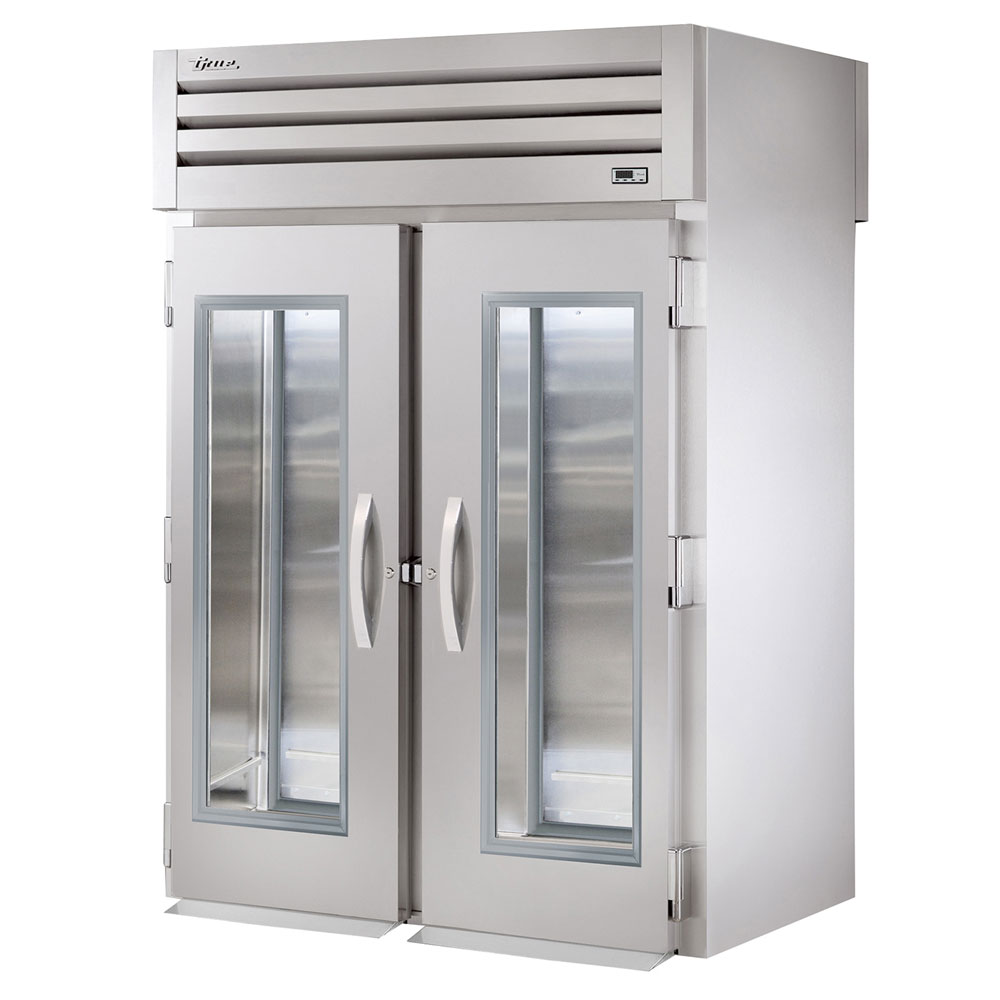 "True STR2RRI-2G 68"" Two Section Roll-In Refrigerator, (2) Glass Door, 115v"