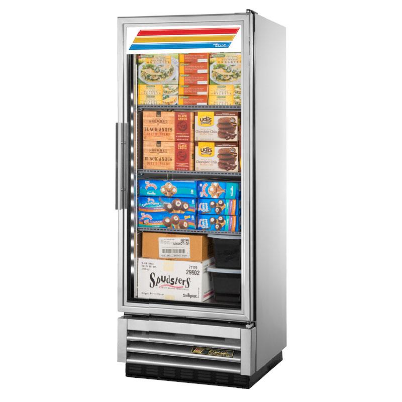 "True T-12FG-LD 24.88"" One-Section Display Freezer w/ Swinging Door - Bottom Mount Compressor, 115v"