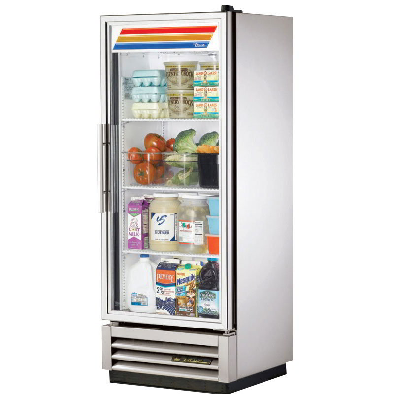 "True T-12G 25"" Single Section Reach-In Refrigerator, (1) Glass Door, 115v"