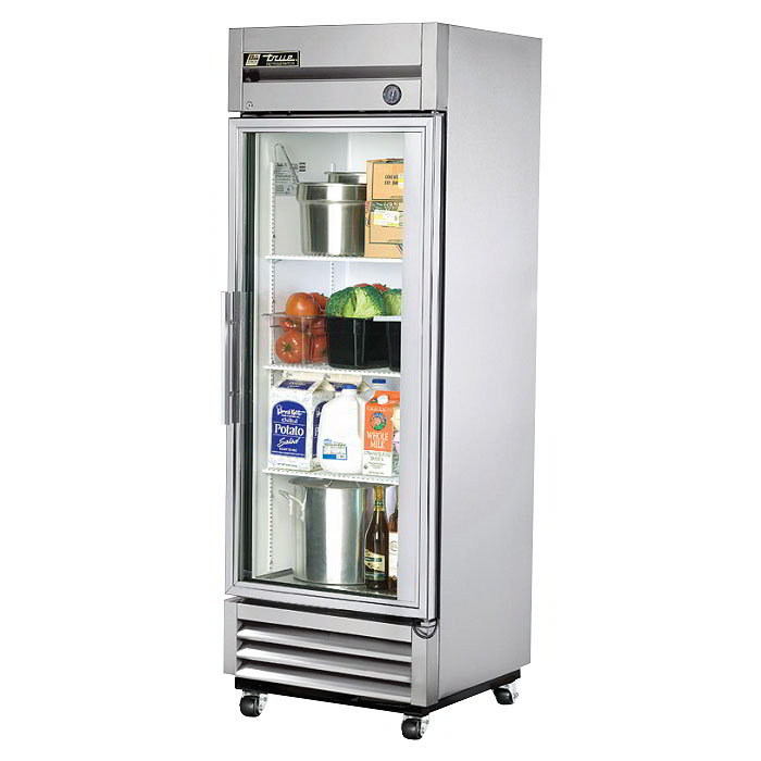 "True T-19G 27"" Single Section Reach-In Refrigerator, (1) Glass Door, 115v"