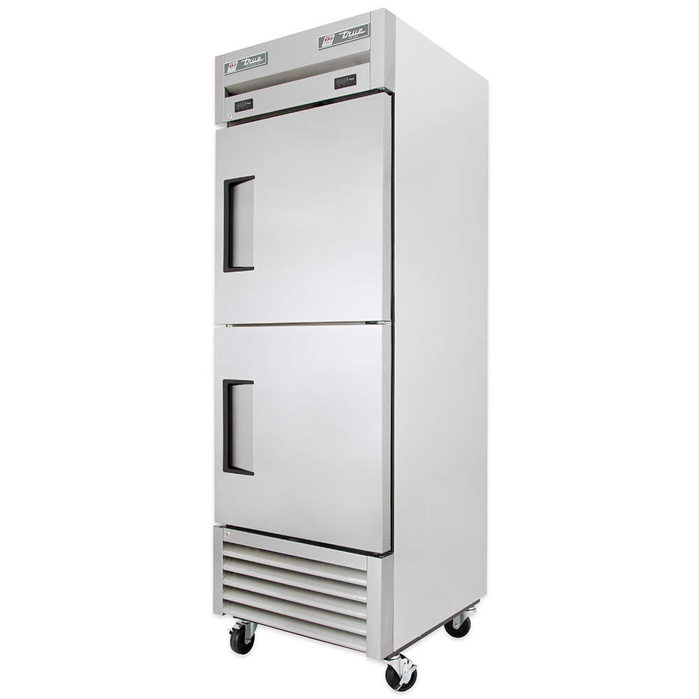 "True T-23DT 27"" One Section Commercial Refrigerator Freezer - Solid Doors, Bottom Compressor, 115v"